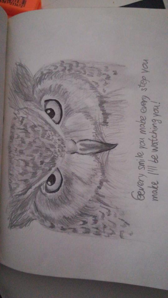 A realistic owl
