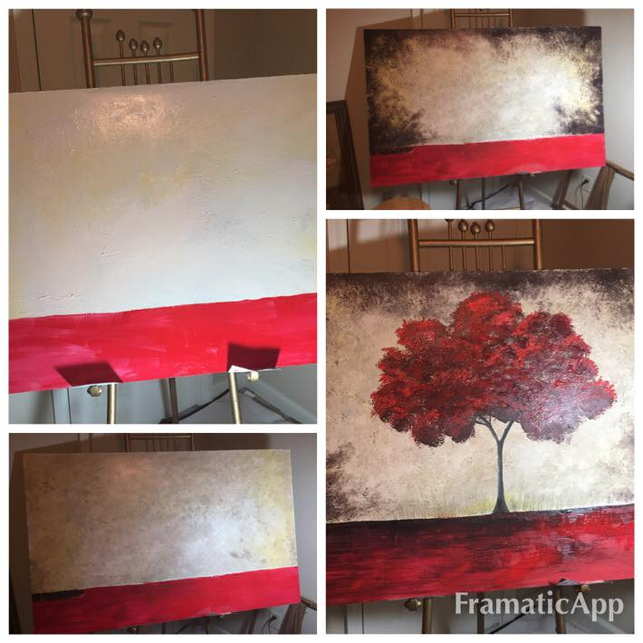 Red Tree Painting - 1
