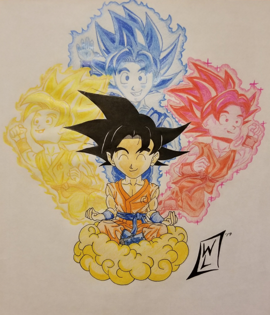 Goku, the master of auras