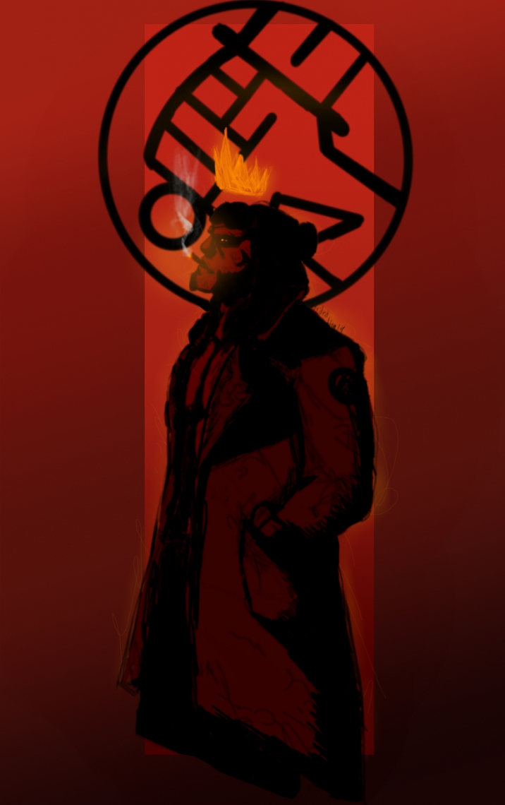 Hellboy the burning king