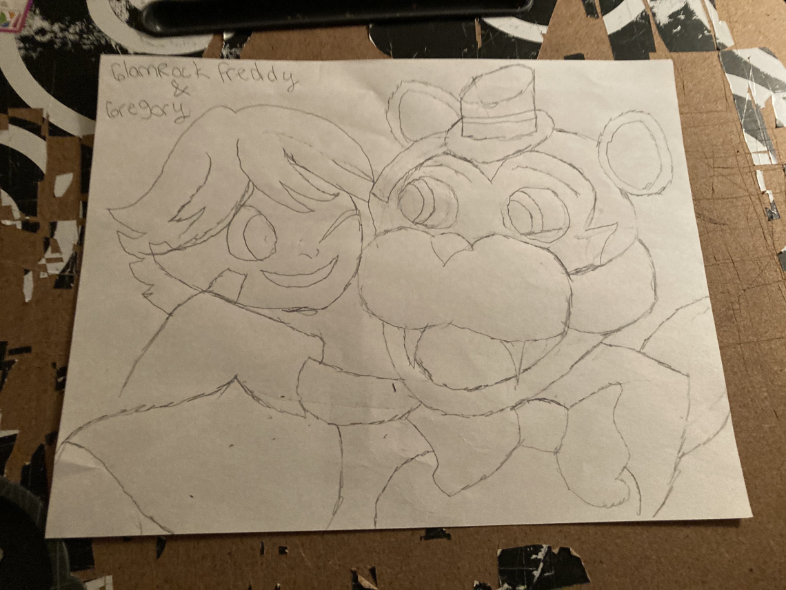 GlamRock Freddy and Gregory Drawing