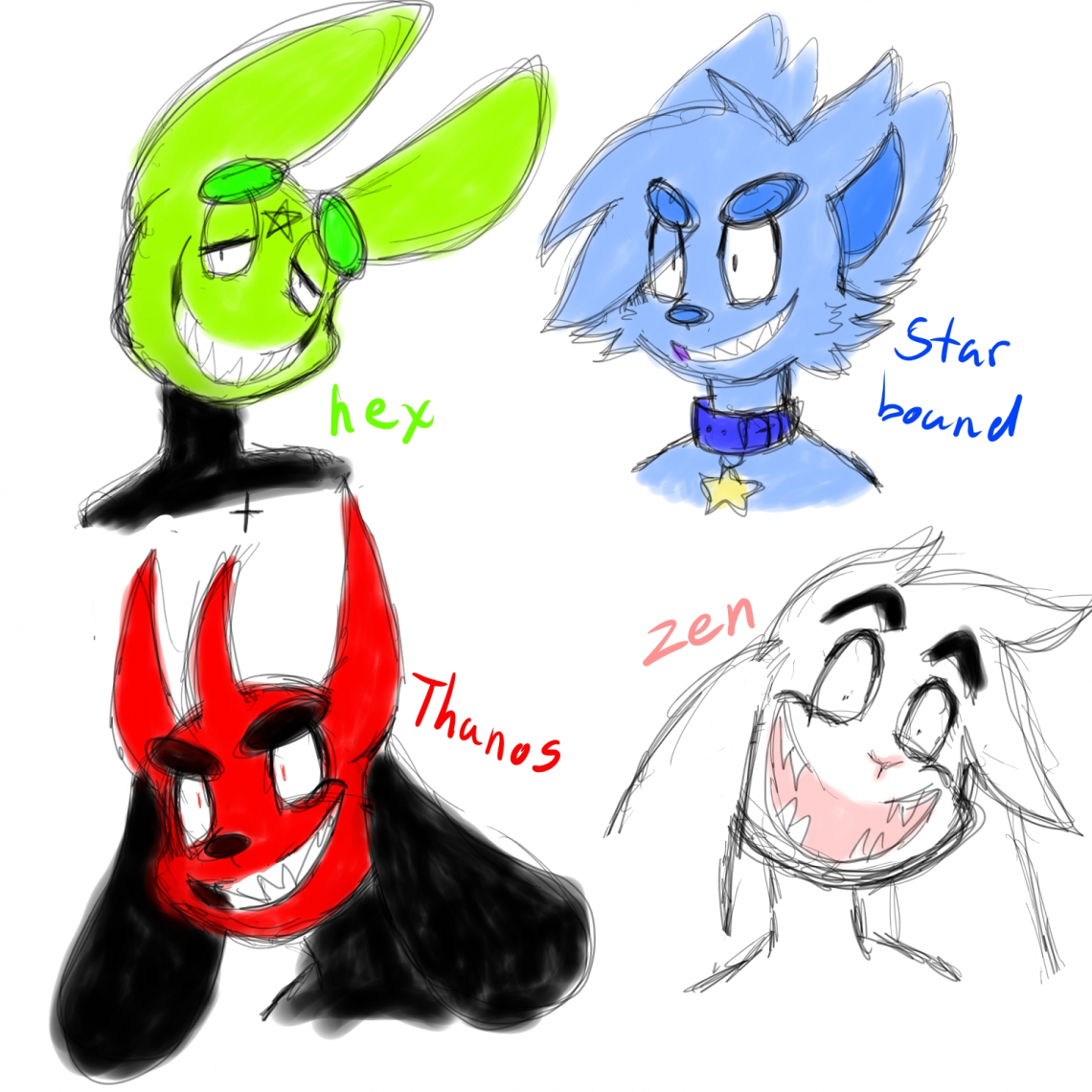 Doodles Of Old Characters