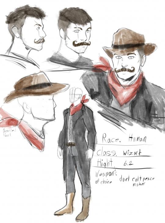 Arthur bloodhollow d&d character design