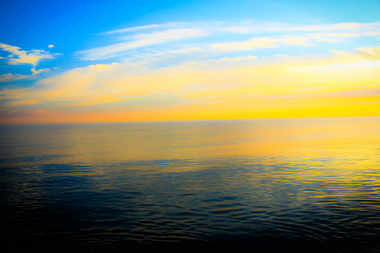 Sunset on Smooth Waters