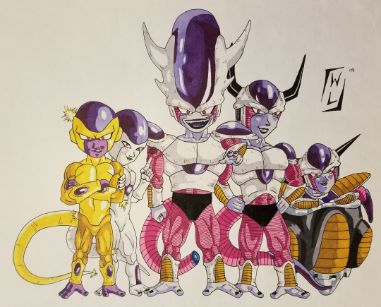 Freeza and his many forms