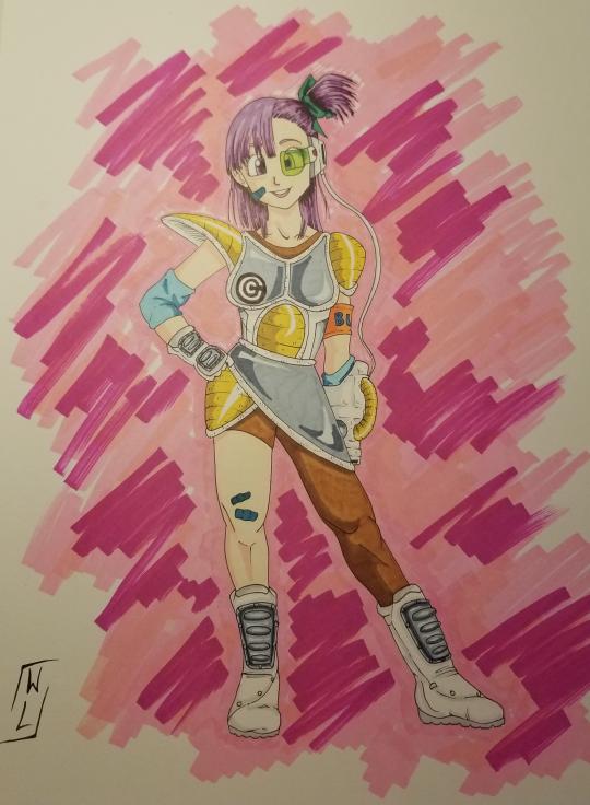 Bulma in OC Saiyan Armor