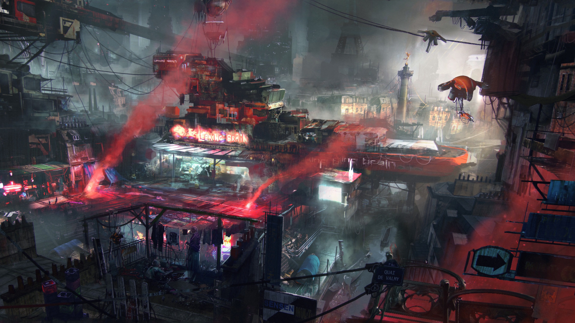 Future city slum