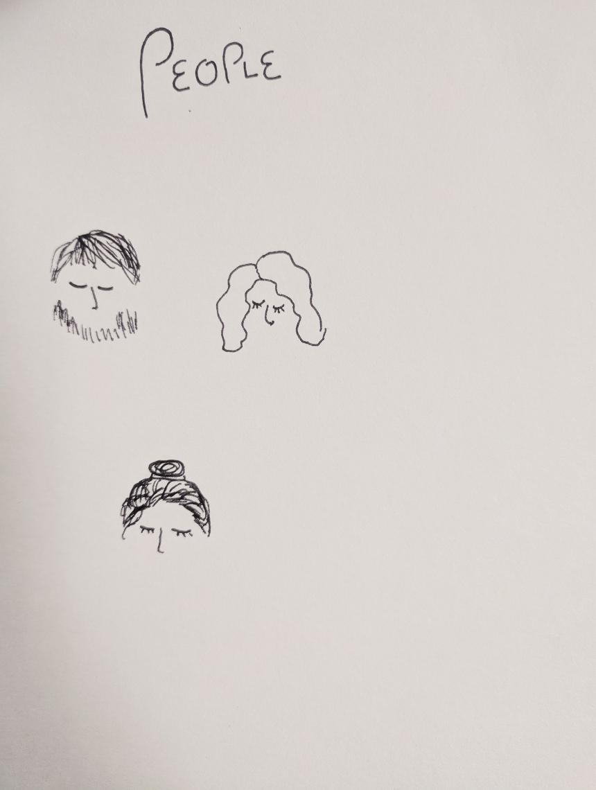 Tiny face doodles