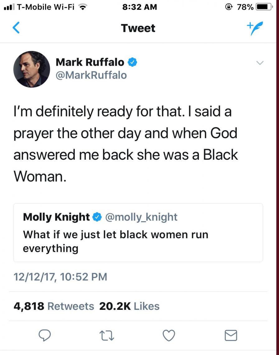 Mark ruffalo knows